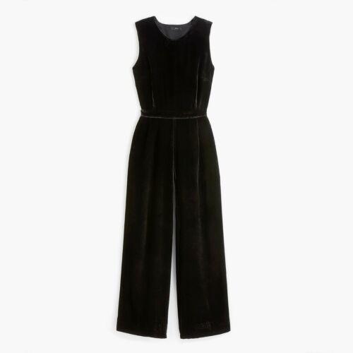 Crew Sleeveless velvet jumpsuit Black 4 $148 NWT  J