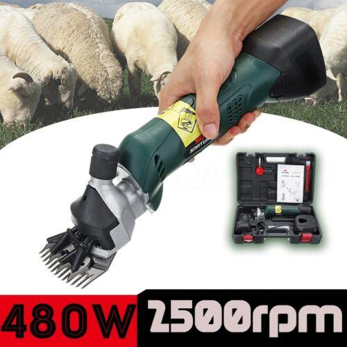 2500RPM 110V 220V Electric Shearing Clipper Animal Sheep Goat Farm W// Battery