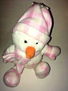 Animal-Adventure-White-And-Pink-Snowman-15-034-Plush-Stuffed-Animal