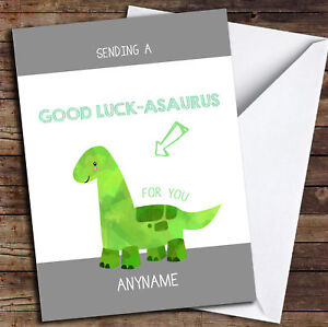 Exams Funny Swearing Ape Personalised Good Luck Card