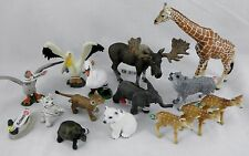 NEW! Schleich Africa Safari Wild Animal Zoo LOT Giraffe Elephant Tiger Wolf Bird