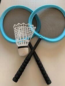 Badminton-Tennis-Rackets-Set-Kids-Play-Game-Toy-NYLON-BIG-Birdie