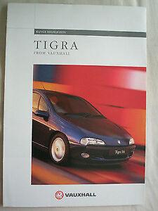 Vauxhall Tigra range Highlights brochure Oct 1994