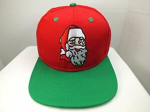 Image is loading Santa-Hat-Santa-Claus-Christmas-Snapback-Blockhead-Vintage- db6ba891b7c