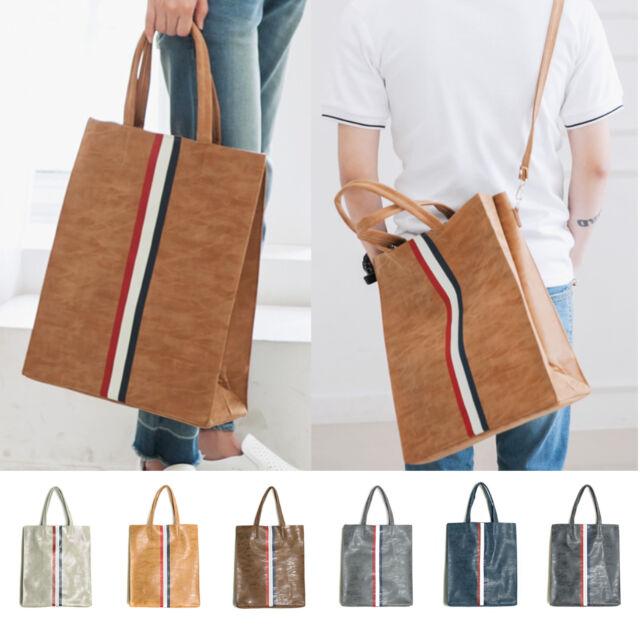 Korea New Fashion Tom Shopping Tote Cross Shoulder Bag Men Synthetic Leather