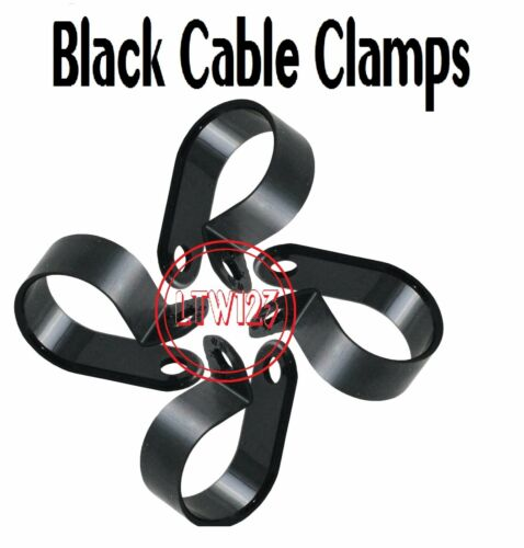 """5//8/"""" Cable Clamp Black UV Resistant  Wire 25//PACK"""