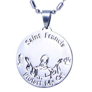 Stainless steel st francis of assisi patron pet cat collar tag urn image is loading stainless steel st francis of assisi patron pet aloadofball Choice Image