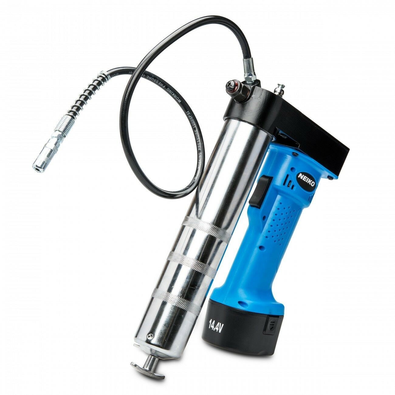 Grease Gun Cordless Pro 14.4 V Rechargeable lithium-ion Battery Li-ion W Case