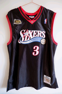 Mitchell & Ness authentic Philadelphia 76ers Allen Iverson 2001 finals jersey