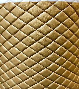 Vinyl Upholstery Gold Metallic Diamond Quilted Fabric With 3 8 Foam