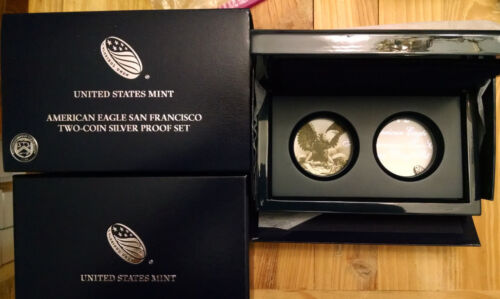 Two 2012 American Eagle San Francisco Two Coin Silver Proof Set box NO COINS 2