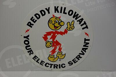 "Reddy Kilowatt IDAHO POWER COMPANY DIE CUT SIGN ELECTRICIAN GIFT 16/"" BY 12/"""
