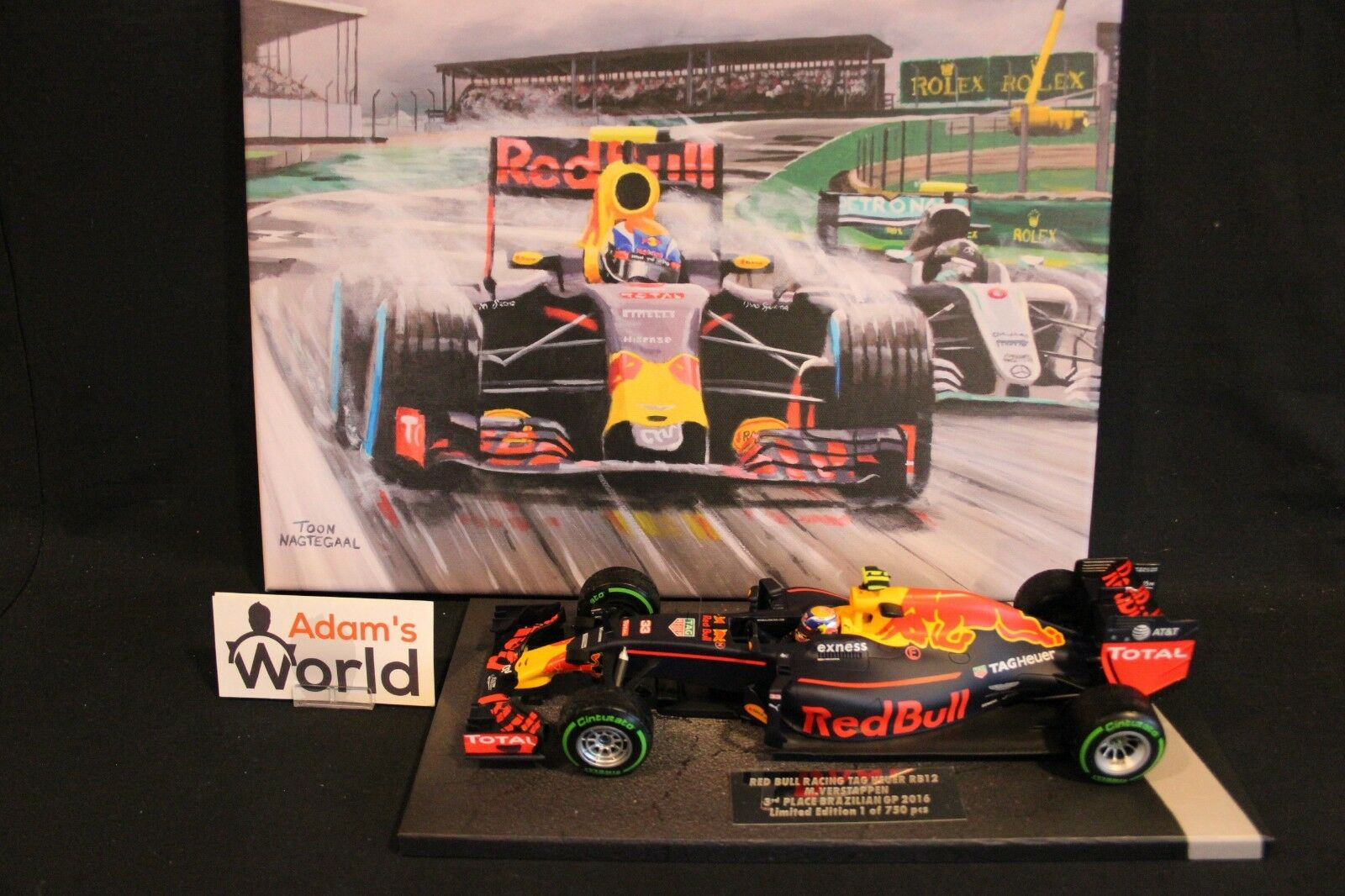 Gift set Max Verstappen 3rd place Brazilian Grand Prix 2016  Rain King