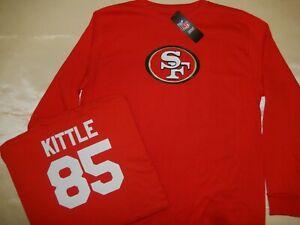 0114 Mens Nfl Apparel San Francisco 49ers George Kittle Long Sleeve Shirt Red Ebay