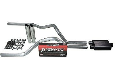 F150 87-94 dual exhaust 2.25 pipe Flowmaster Super 44 RC Tip