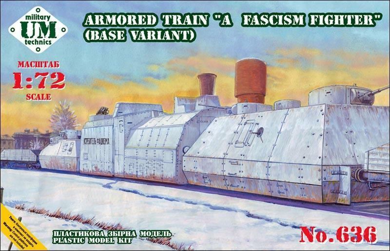 Armored train  A Fascism Fighter , base variant  UMmt  636, 1 72 scale