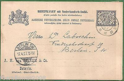 Niederländisch Indien Ganzsache Klassifizierung nach Dr. Ascher  NIE 15a 1901/03