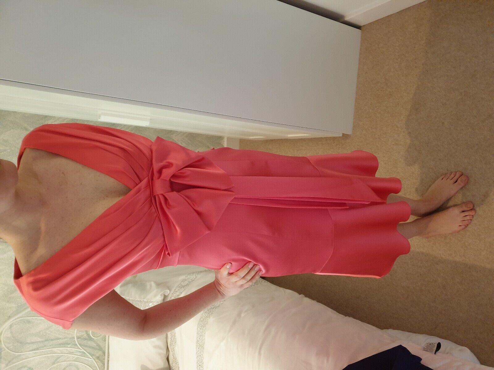 Karen Millen Pink bow dress size 10