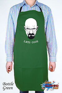 WALTER-WHITE-DISNEY-BREAKING-BAD-HEISENBERG-POLLOS-Kitchen-Apron-Bottle-Green