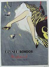 OLD ADVERT KAYSER BONDOR STOCKINGS NYLONS HOSIERY c1955 VINTAGE COLOUR PRINT