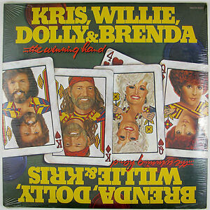 KRIS KRISTOFFERSON, WILLIE NELSON, DOLLY & BRENDA Winning Hand LP (STILL SEALED)
