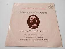 M- ANNA MOFFO /ROBERT KERNS  MASSENET'S OTHER MANON ,BONUS+PS,VINYL 33 45 SIZE