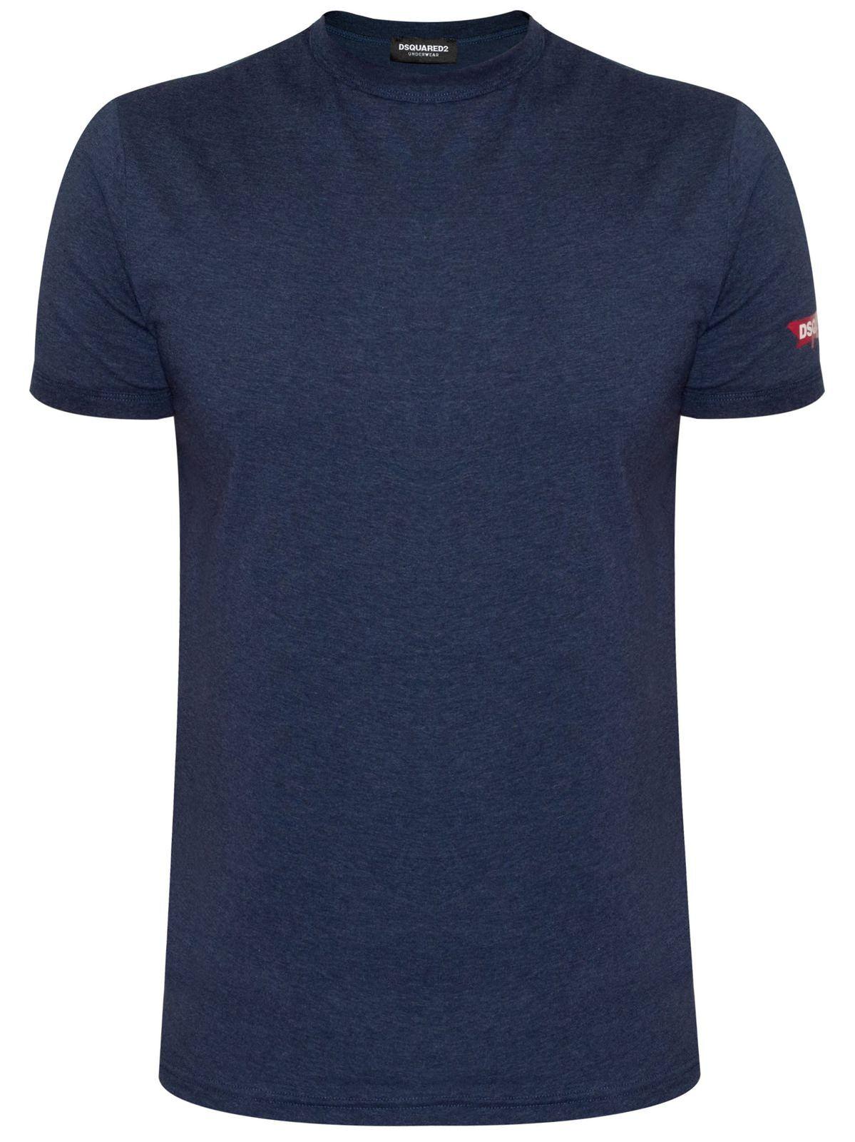 DSQUArot2 Underwear Indigo Blau Melange T-Shirt