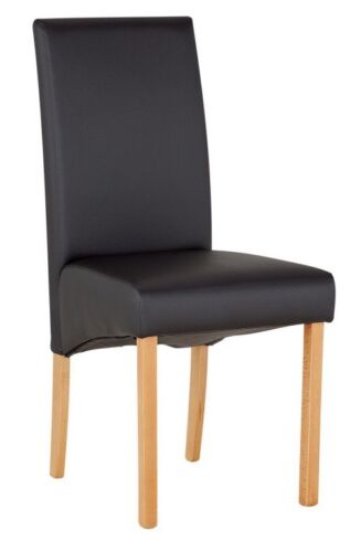 Argos Home Pair of Skirted Dining Chairs - Black - Brand New