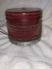 Vintage Whelen Model 800 1 Red Beacon Signal Light Model Sn 800 1 5997 Made Usa