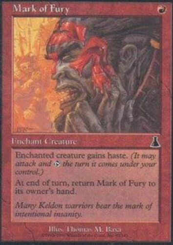 UDS Red Common Urza/'s Destiny Magic Card 4x MTG: Mark of Fury