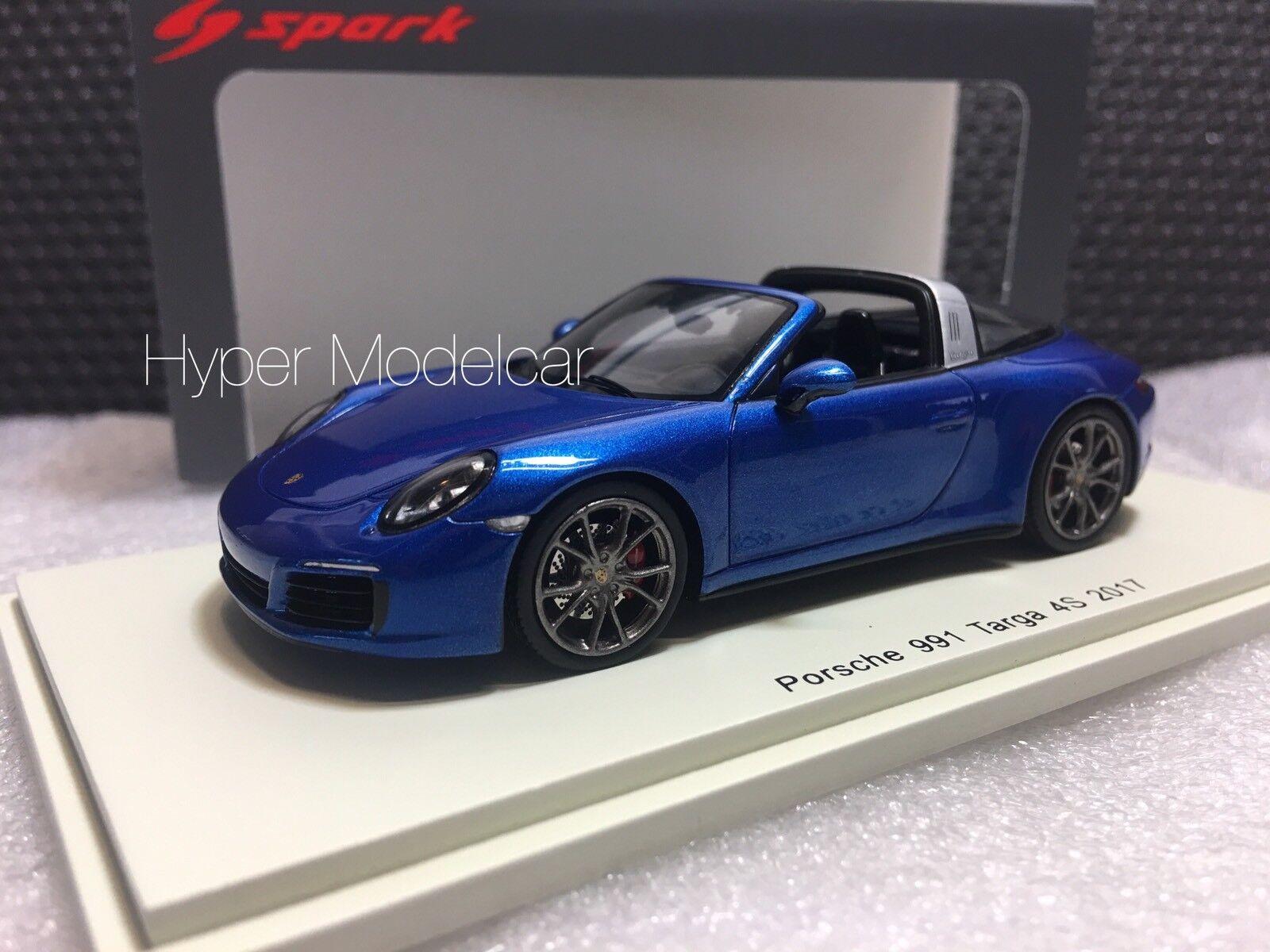 Spark Model 1 43 Porsche 911 Targa 4S 2011 bleu Met. Art.S4977