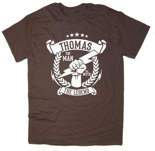 The Legend T-Shirt 6 colours Thomas Christmas gift idea The Myth The Man