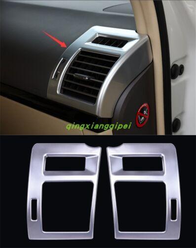 Silver Interior Side Air Vent Outlet Cover Trim For Toyota Prado FJ150 2010-2018