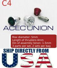 U.S. SELLER - Metal Detail-Up Red Luxury Thruster Set C4 For 1/100 MG Gundam