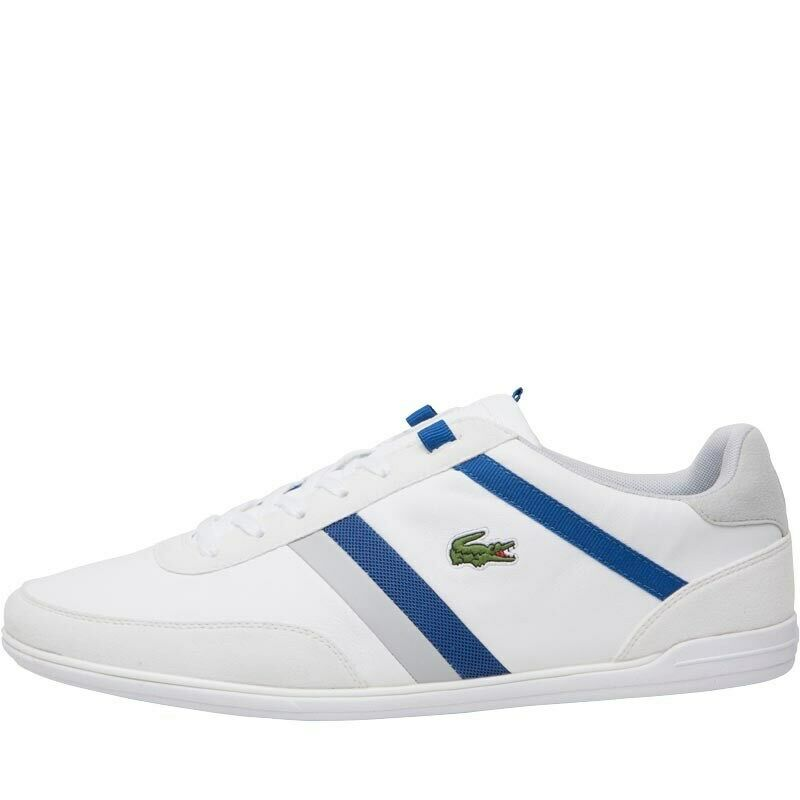 Lacoste Baskets Homme Giron Taille Uk 6-12 Blanc N106 Lacets Casual Chaussures De Marche