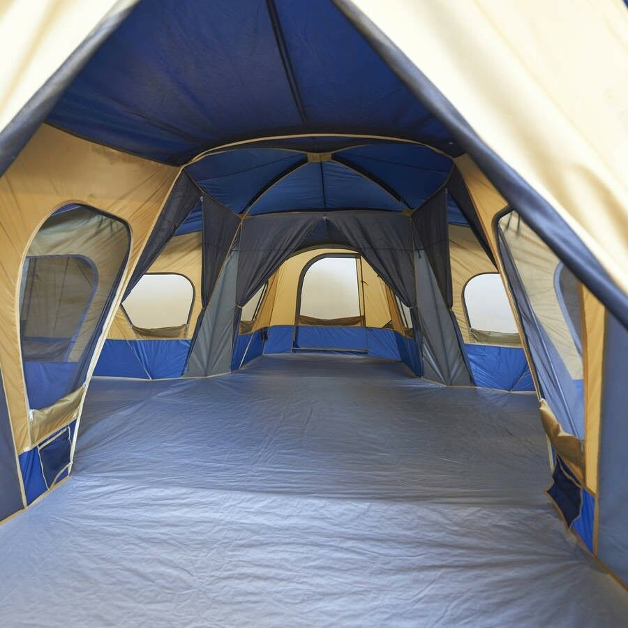 14-Person 4-Room  Rooms Divider Base Camp Tent Camping Windows Ventilation Bed  after-sale protection