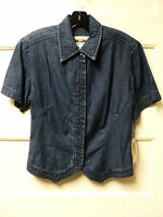 Hairston Roberson ropa Tencel Denim Short Sleeve Shirt, Size Medium -