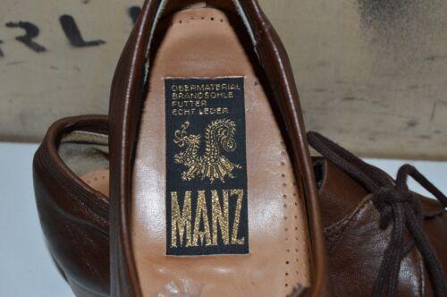Braun Manz Halbschuhe Vintage Uk 7 True Schnürschuhe Brown Herren Leder Leather E5wfqZXn