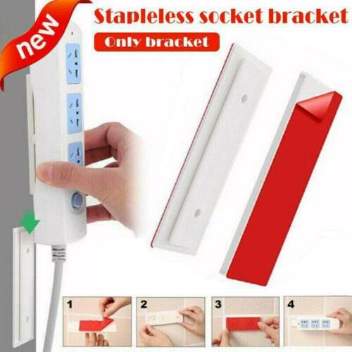 Magic Plug Holder Seamless Punch-free Plug Sticker Fixer Wall For Sockets Q3O9