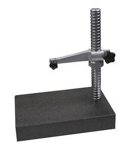 Praezisions-Messtisch-mit-Granitplatte-250-mm-fuer-Messuhren-Neu