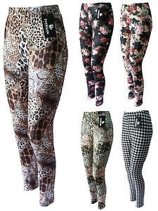 Leggings-Musterleggings-Leggins-elastisch-super-Fotoprint-Gr-40-42-44-46-48-50