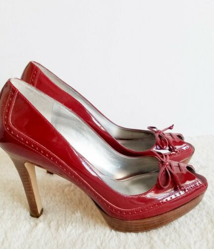 "Marc Fisher Sexy RED ""Vica"" Platform Patent Oxford"