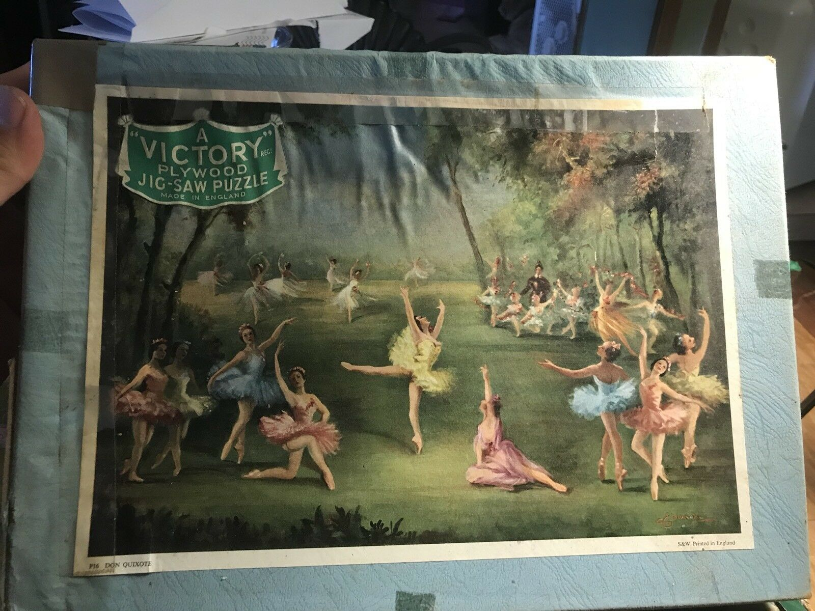 VICTORY PlyHolz Ballerinas Dancing Forest Jigsaw Puzzle  Pieces..Complete