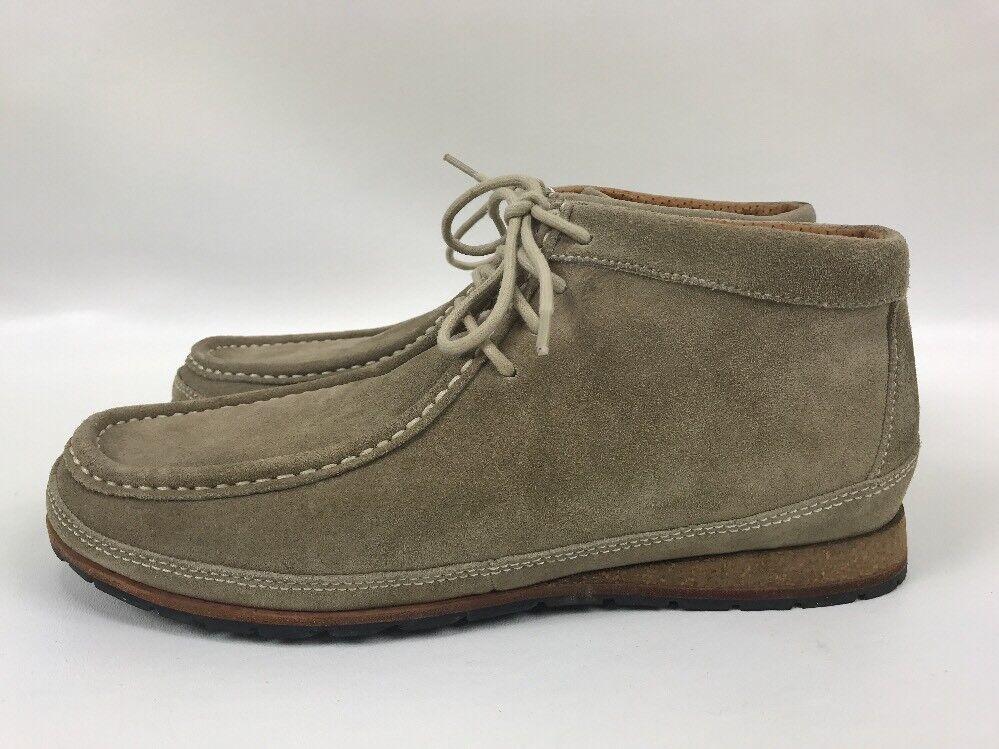 Cole Cole Cole Haan Moc Toe Chukka Ankle Stiefel schuhe Sand Tan Suede Cork Heel Mens Größe 8M 54f96d