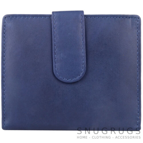Travel Mens Leather Bi-Fold Credit Womens Ladies ID Photo Card Holder