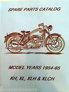Harley Parts Manual Catalog Book 1954 To 1966 K Model Sportster Kh Khk Xlch Xl Ebay