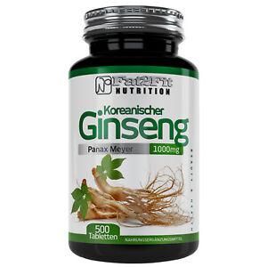 Koreanischer-Ginseng-500-Tabletten-je-1000mg-Konzentration-Lernen-Gehirn