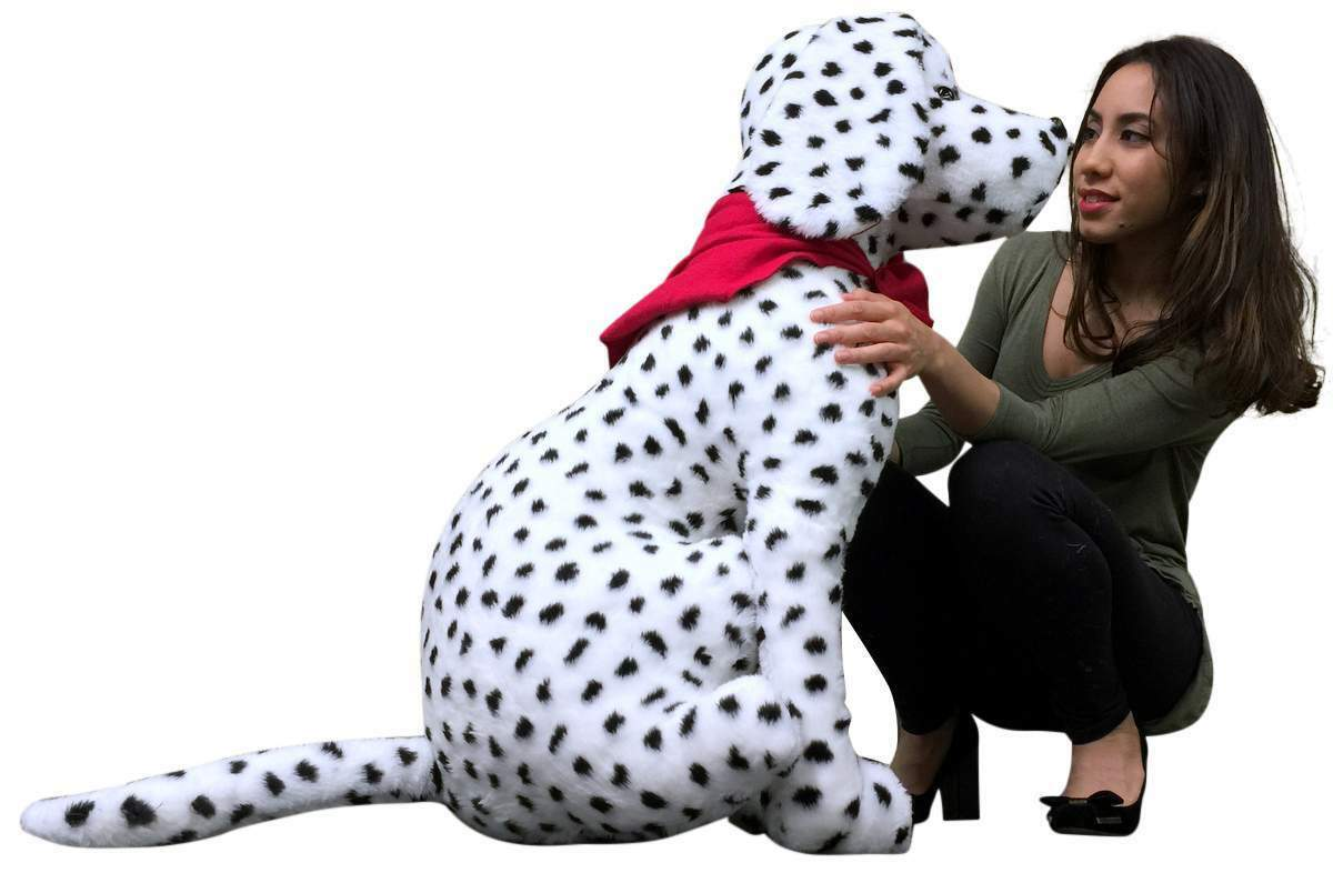 American Made Stuffed Giant Stuffed Made Dalmatian 36 Inch Soft Big Plush Fire Dog Brand New 6538d3