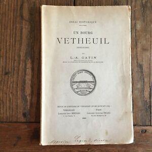 Gatin Uno Bourg Vétheuil Rivista Di Storia Di Versailles Senna-Oise 1900