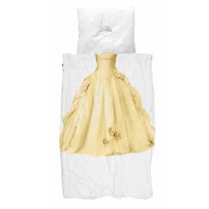 Snurk Bettwäsche Prinzessin Gold Kleid Königin Krone Cinderella